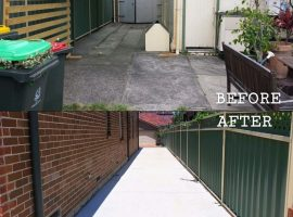 zRussell Extention Driveway Before and After
