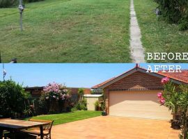zRussell Extention Landscape Before and After